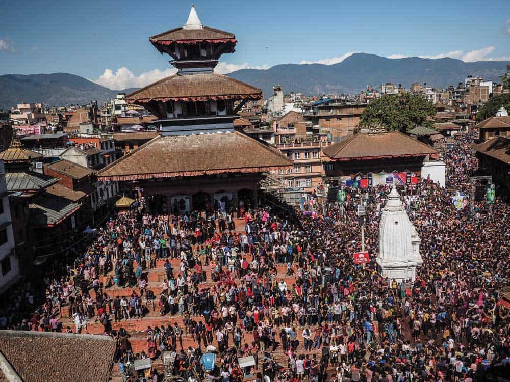 holi in kathmandu