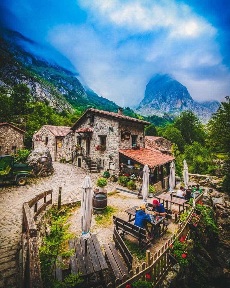 bulnes mountain village picos de europa