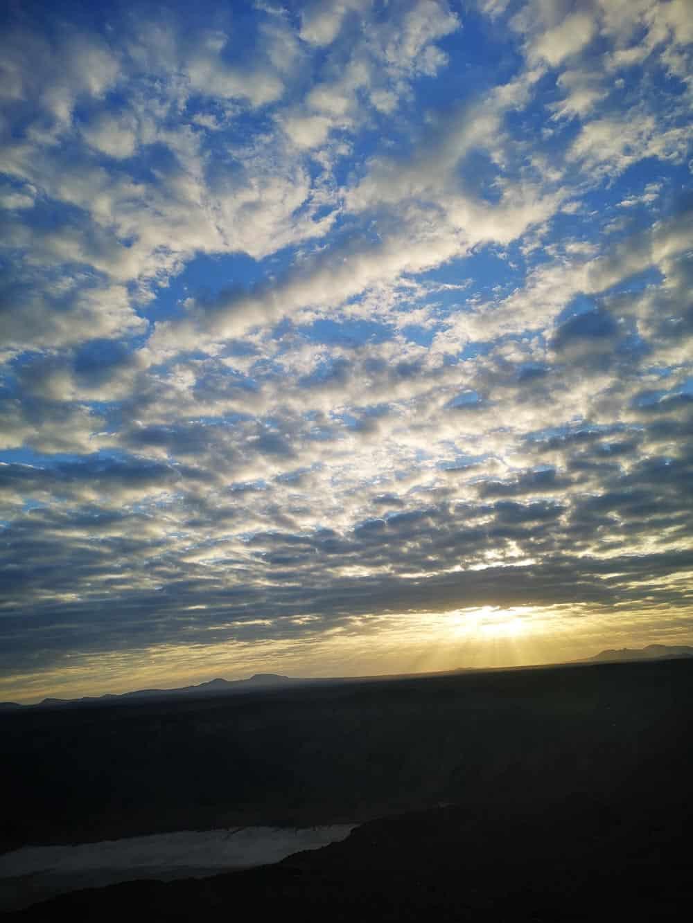 Al Wahbah Crater sunrise