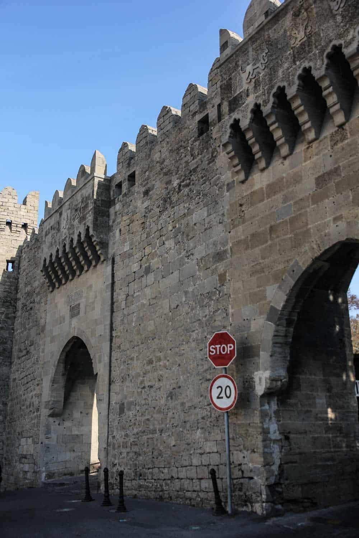 Baku old city wall