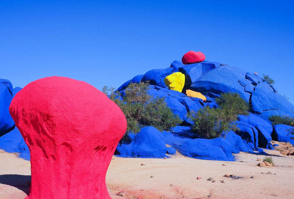 Tafroute painted rocks Morocco