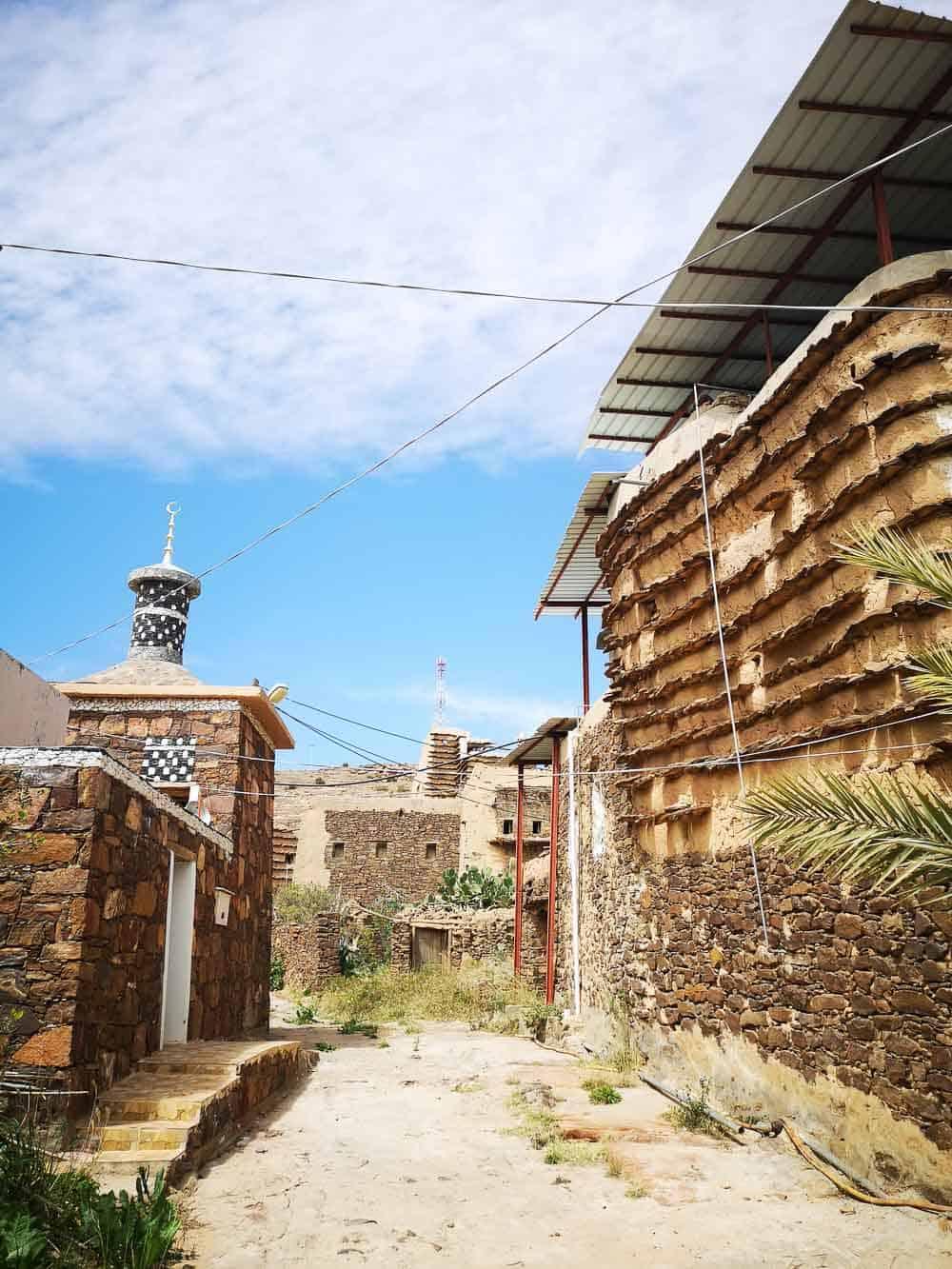 Tamniah old streets saudi arabia