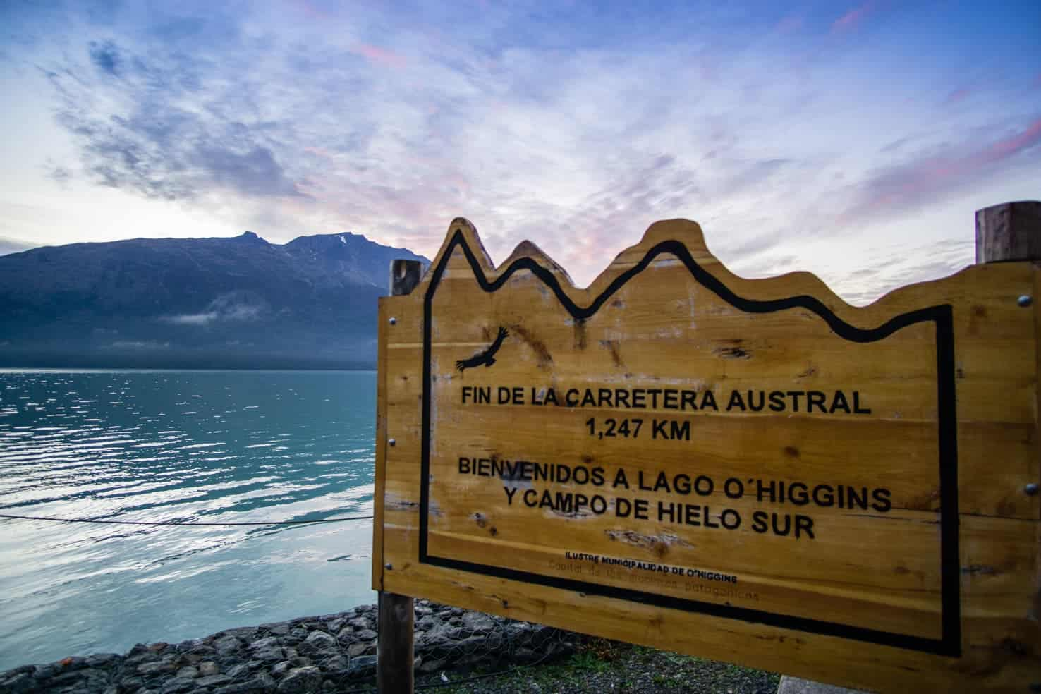 the end of Carretera Austral Chile
