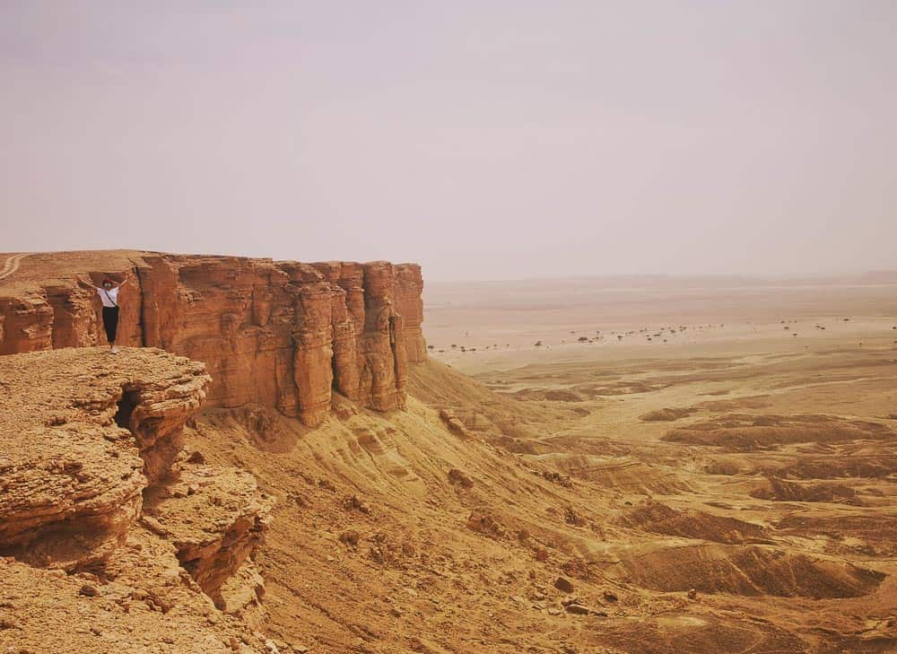 View of the Edge of the World saudi arabia