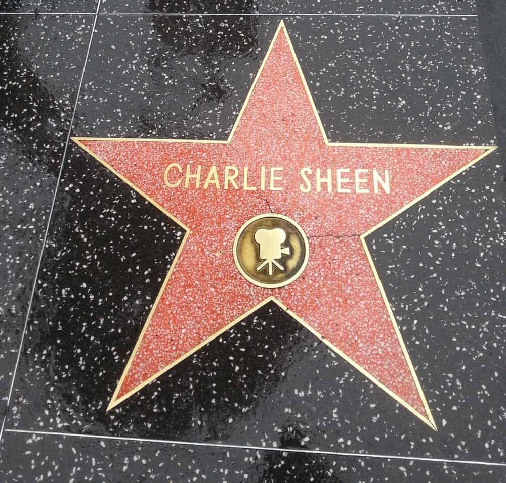 Hollywood Walk of Fame charlie sheen