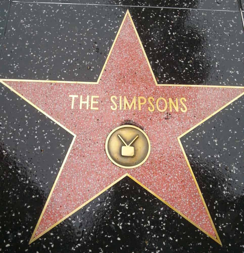 the simpsons star Hollywood Walk of Fame.