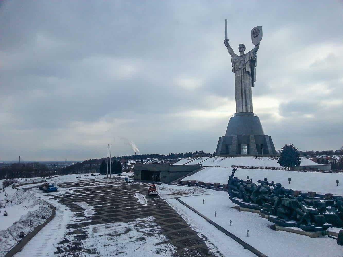The motherland monument kiev ukraine
