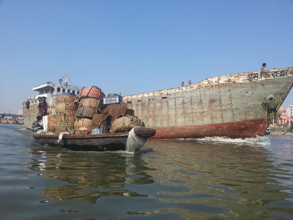 Sadharghat River Port in dhaka