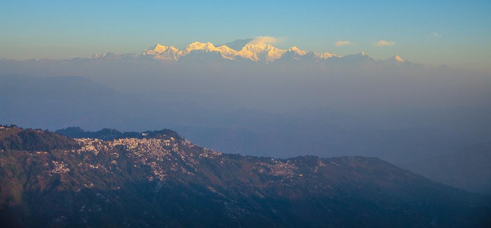 Himalaya view from Darjeeling