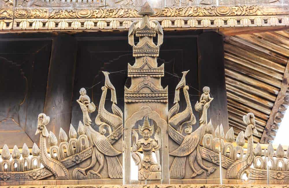 bagan wooden temple