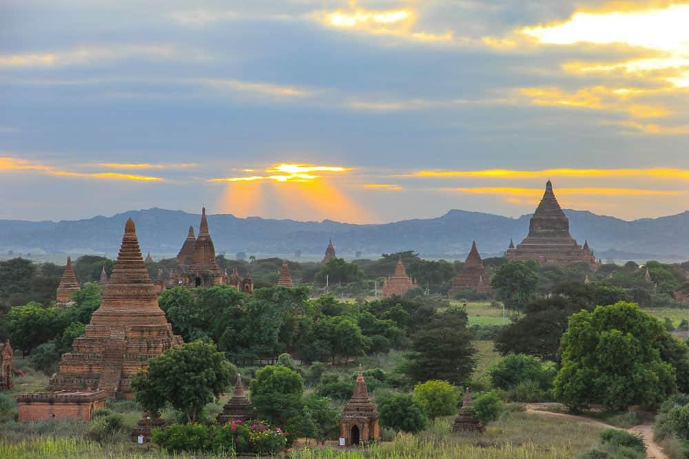Bagan ancient city in Myanmar burma