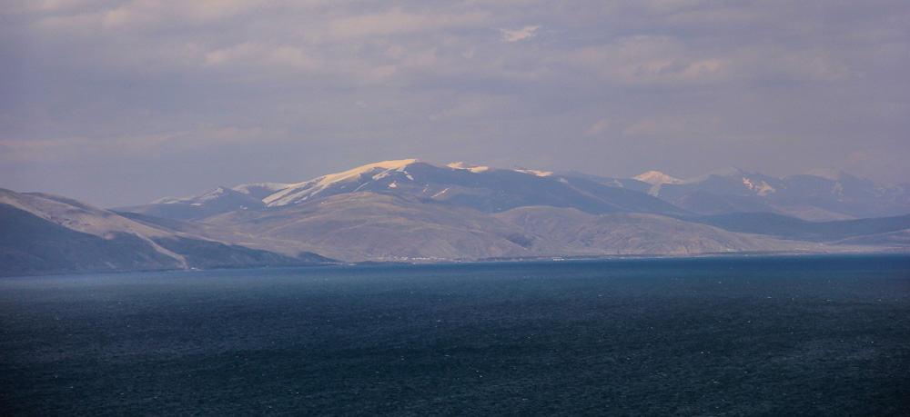 mountains lake sevan armenia