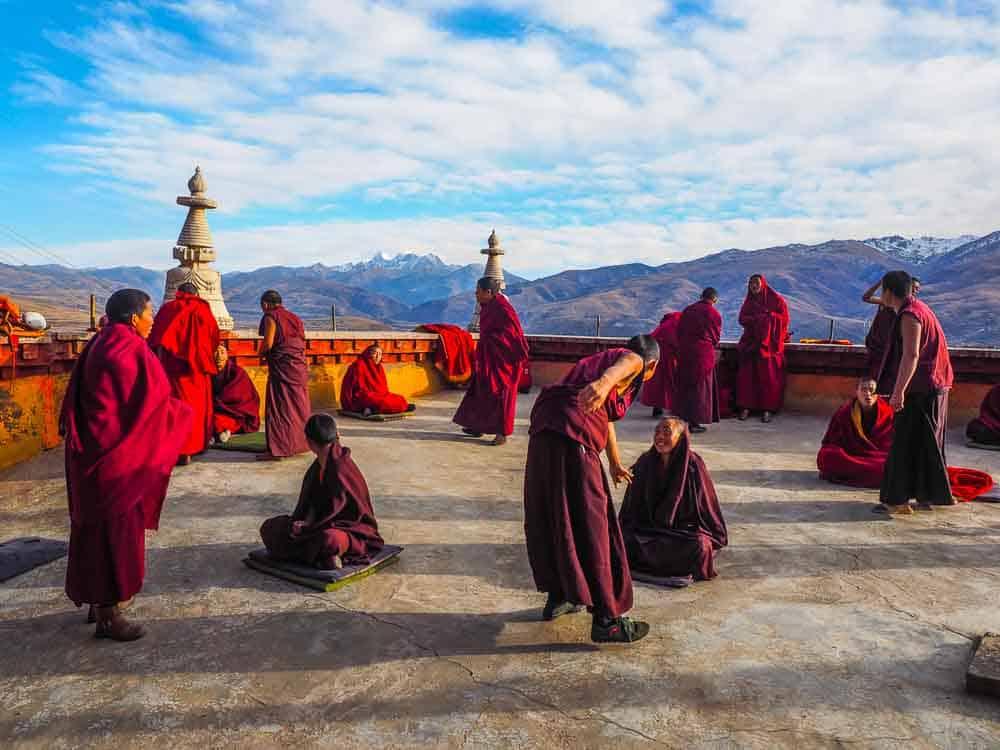 monks Ganzi Sichuan china