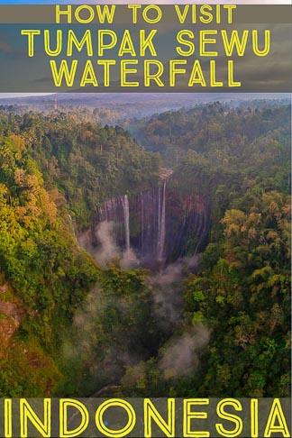 travel guide to Tumpak Sewu Waterfall, in Java Indonesia