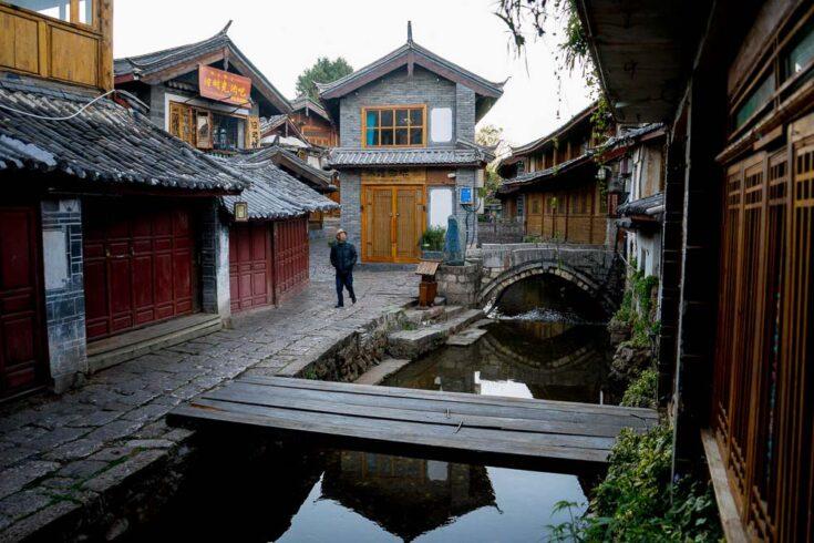 Lijiang old town in Yunnan China