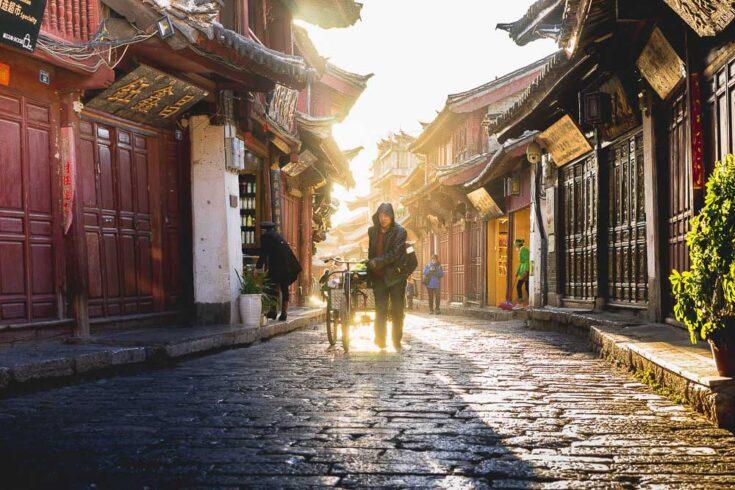 Lijiang streets Yunnan China