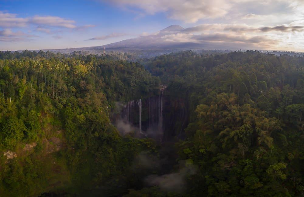 Tumpak Sewu Waterfall in Java Indonesia
