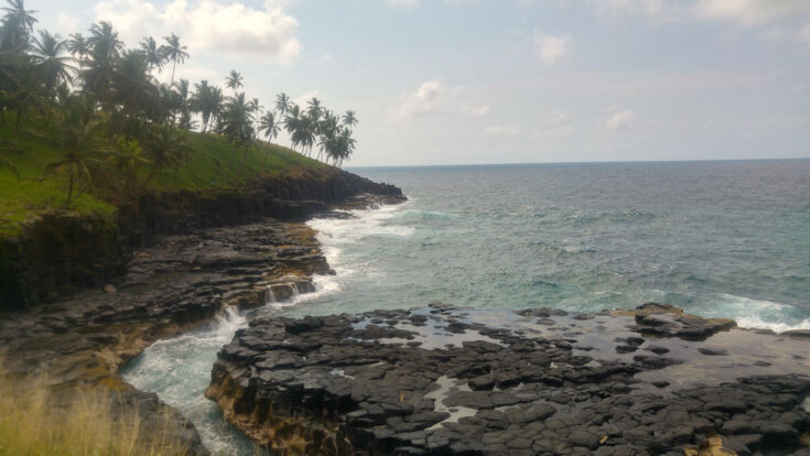 """Boca de Inferno, known as the """"Mouth of Hell. sao tome"""