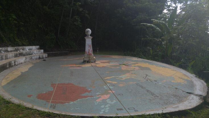 Equator rolas island Sao Tome