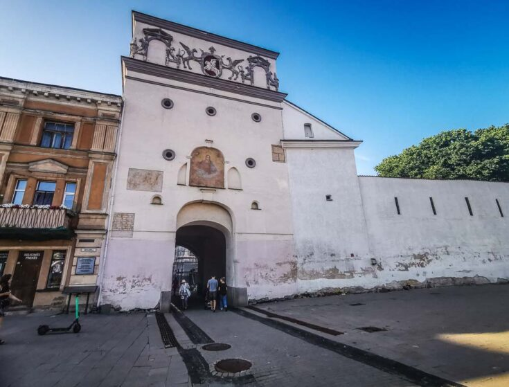 Southern side of the gate of dawn vilnius