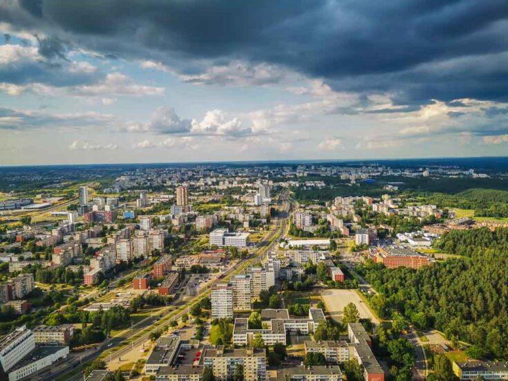 vilnius tv tower view