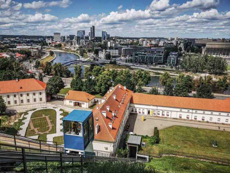 Funicular train to Gediminas' Tower vilnius