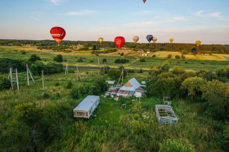 hot air balloon vilnius lithunia