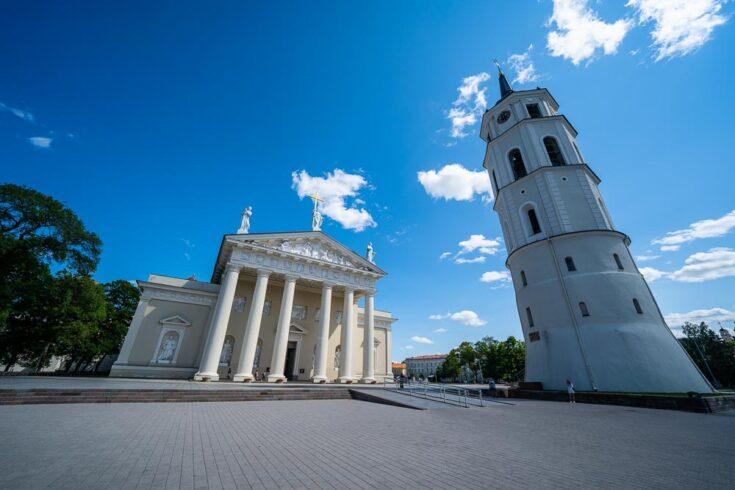 Vilnius Cathedral in Vilnius Lithuaia