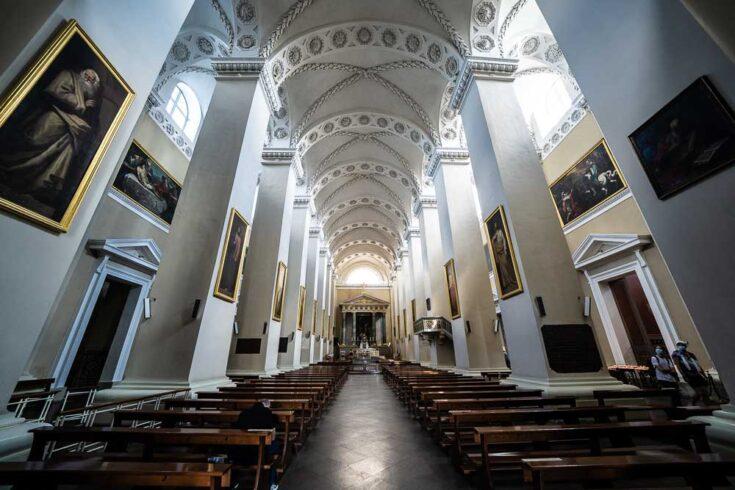 Inside Vilnius Cathedral