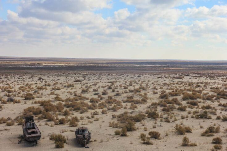 the aral sea, water all gone