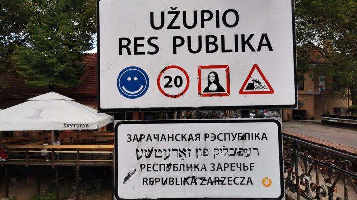 Republic of Užupis vilnius lithuania