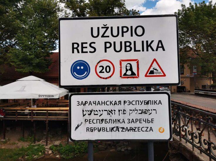 Republic of Užupis vilnius