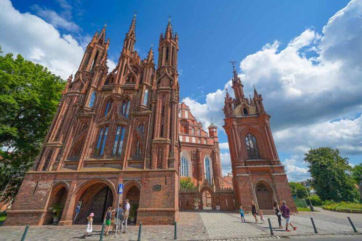 St. Anne's Church Vilnius lithunia