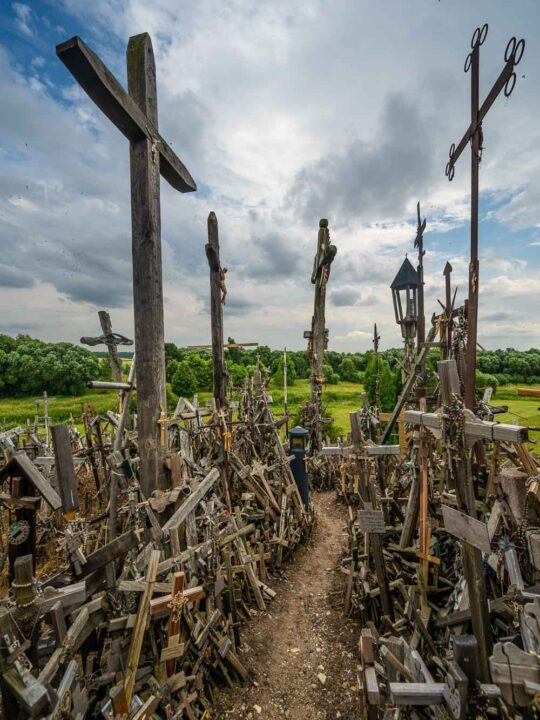 There´s a couple of crosses at the Hill of Crosses
