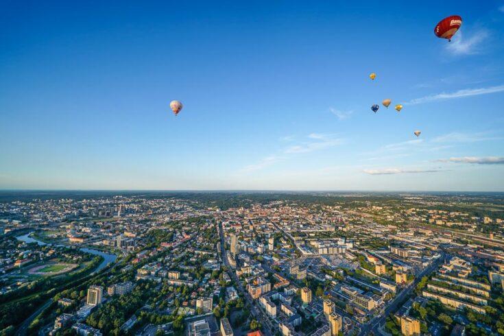 Hot air ballon Vilnius Lithuania