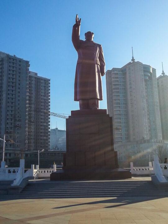 Mao Zedong statue Dandong China