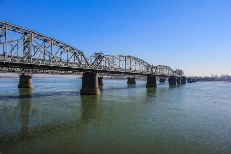 Bridge to North Korea from China
