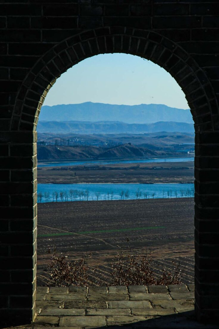 Tiger Mountain Great Wall / Hushan Great Wall dandong north korea China